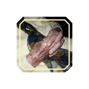 old praying hands