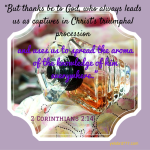 """""""But thanks be to God, who always leads"""