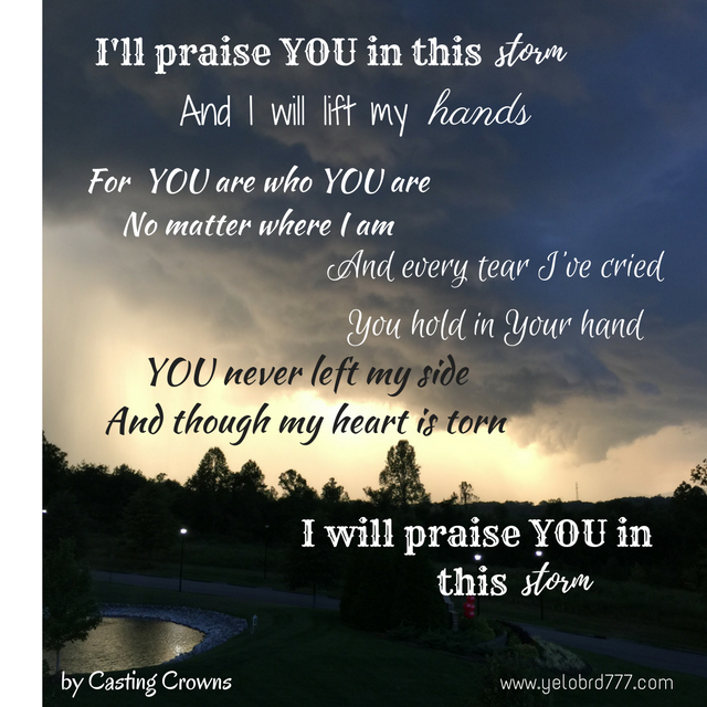 Praise you in the storm